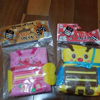 Girls small Cartoon towel ×2