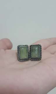vintage rectangle earrings