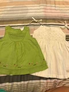 PL 2 baby girl dresses  (6M)