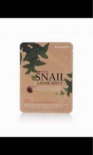 Snail sheet mask