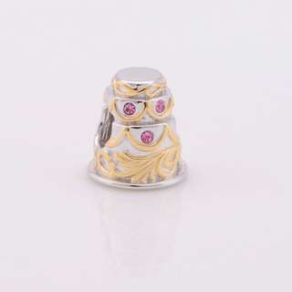 Code S65, Wedding Cake 100% 925 Sterling Silver Charm compatible With Pandora