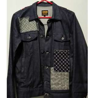 Jaket patch denim merek Thanksinsomnia