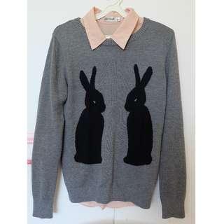 Dangerfield grey rabbit jumper