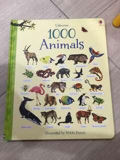 Usborne 1000 animals