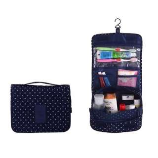 Travel Tolietries Hanging Pouch Cosmetic Skincare Makeup Bag Organiser