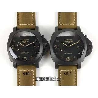 【大飛精品】VS廠PK正品  Panerai 沛納海PAM441男錶  搭載9001機芯 避震器擺輪位置在7點鐘位置
