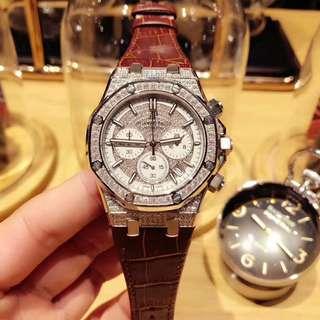 【大飛精品】限量版 AP鑲鑽實拍 原廠品質 全滿鑲鑽 男錶 石英腕錶 藍寶石水晶玻璃 超強防水