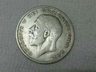 GB King George V Half Crown. SILVER