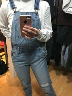 Denim overalls - small
