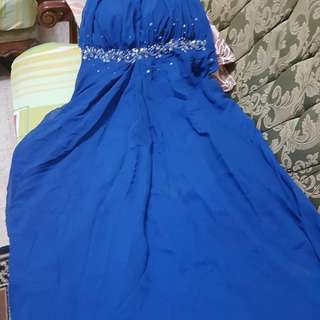 Royal blue gown infinity