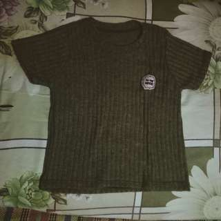 Brown Knitted Croptop