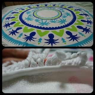 (BN) Round Microfiber Mandala Tapestry/Beach Mat