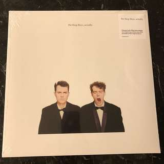 Pet Shop Boys - Actually. Vinyl Lp. New