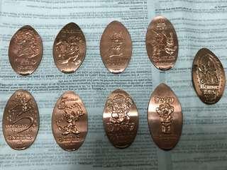 香港迪士尼 disneyland 紀念銅幣 coins