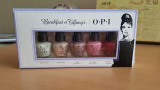 OPI breakfast at tiffanys series/ kutek opi set
