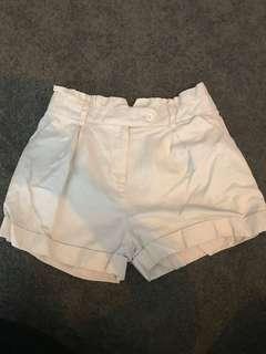 Forever New Off-white paper bag shorts