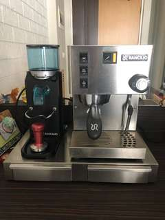 Rancilio Silvia Coffee Machine & Grinder