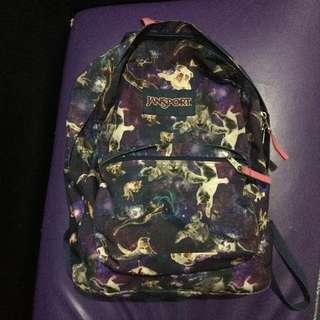original jansport backpack cat print