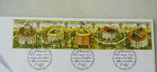 Great Britain UK England Shakespeare's Globe Stamps & Special Postmark #2