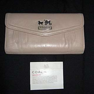 SALE! Coach Trifold Leather Wallet