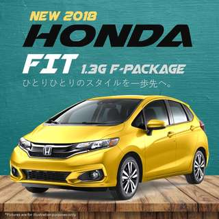 Honda Fit 1.3G F-Package (2018 NEW FACELIFT)