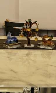 琉璃貔貅一对 + 元宝招财树