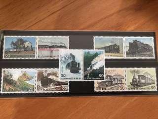 日本火車郵票