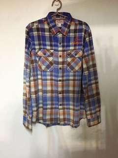 🚚 美國加州頂極丹寧品牌TRUE RELIGION 格紋長袖襯衫