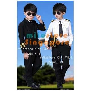 Kids Pilot Costume Unisex Uniform Gifts Birthday Brand New Instocks Aviator Aerospace