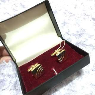 Gold Silver Cuff link