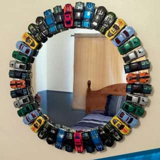 Mirror with cars for kids room