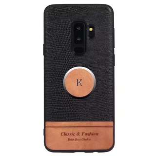 Case Samsung S9 , S9+ Leather Black Full Cover