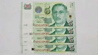 $5 1BS 4 runs nos