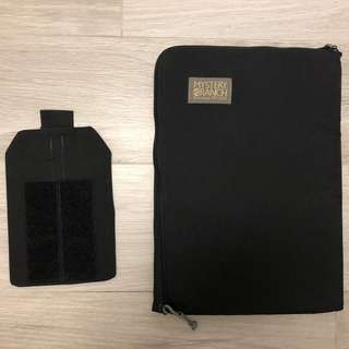 Mystery Ranch Notebook case - Black (Made in USA)