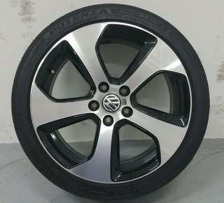 "18"" VW Golf GTI rim with tyres"