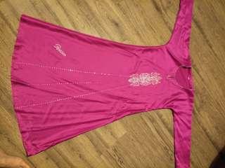 Hot pink long dress (jubah)
