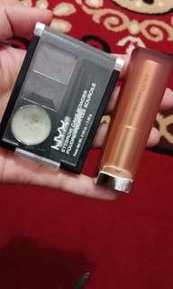 NYX eyebrow kit & Maybeline lipstik