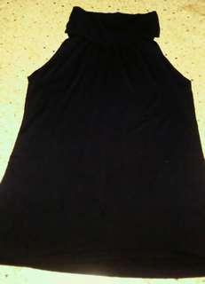 BANANA REPUBLIC LOOSE TURTLE NECK SLEEVELESS BLOUSE