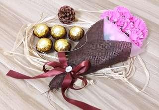 Mother's Day Flower Bouquet & Ferrero Rocher