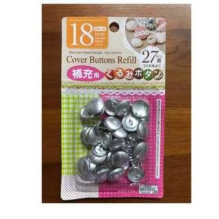 Cover Buttons Refill 27pcs 18mm diameter