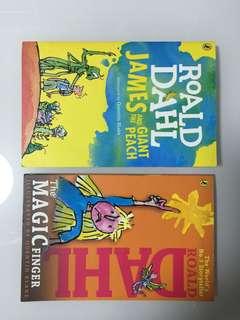 Roald Dahl 正版書兩本,一本全新