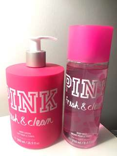 PINK by Victoria's Secret - Body Lotion and Body Mist