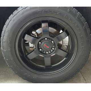 "20"" Rims with Nitto Terra Grappler G2 All Terrain Tires"