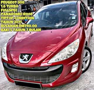 PEUGEOT 308 TURBO SAMBUNG BAYAR