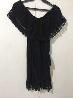 F21 Off-Shoulder Black Dress
