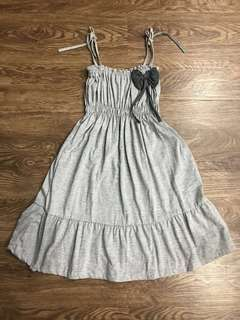 Grey Ribbon Dress