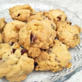 Cranberry Cornflakes Cookie