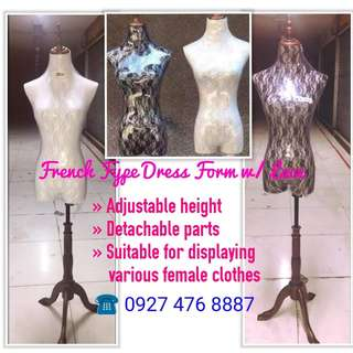 French Type Lace Cover Mannequins