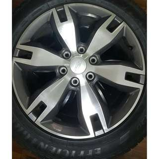 "Ford Everest Titanium 20"" OEM Rims with Goodyear EfficientGrip Tires"