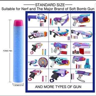 50pcs light blue with purple tip darts for Nerfs